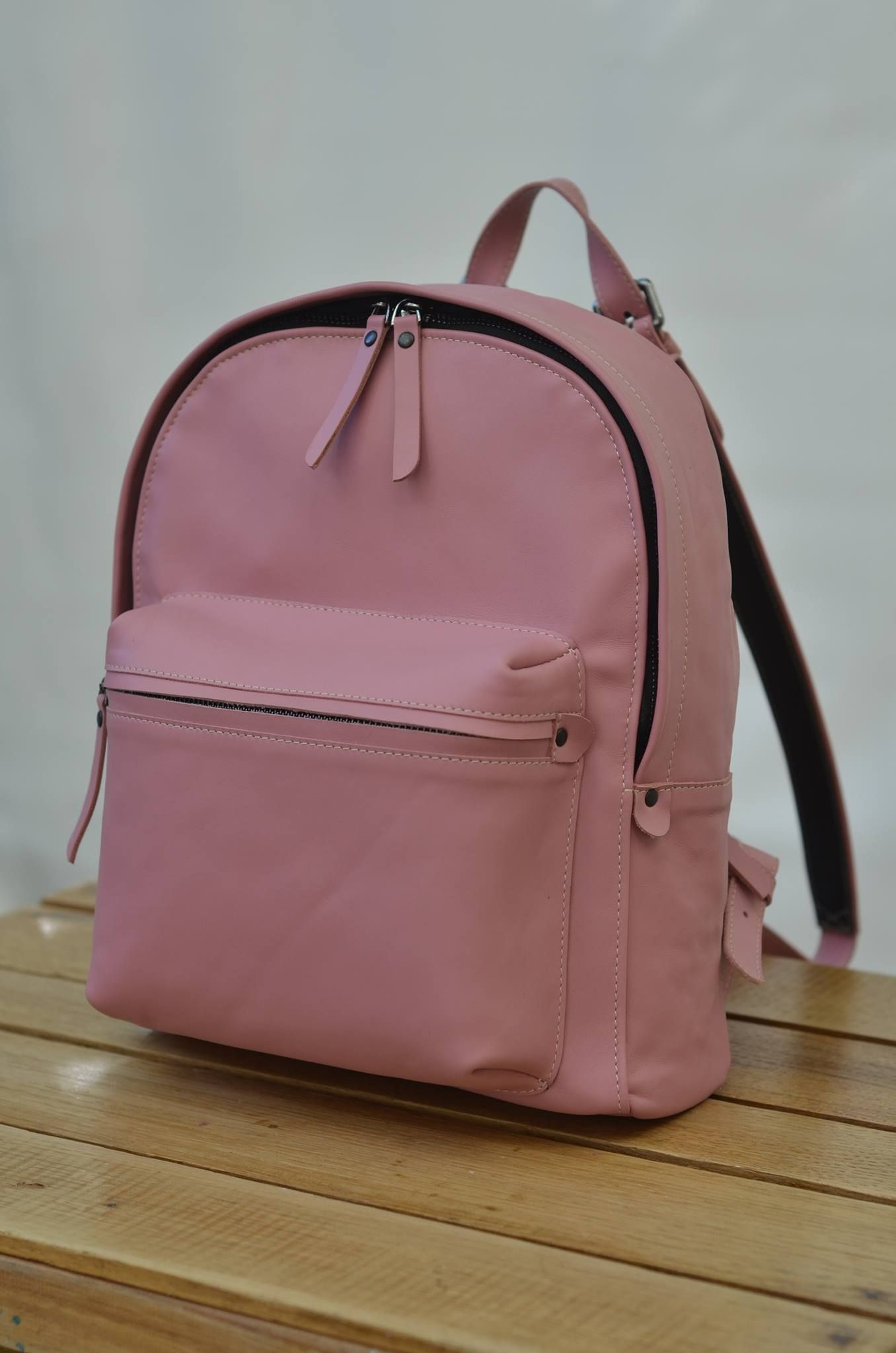 9246593d7900 Pink Leather Laptop Backpack- Fenix Toulouse Handball