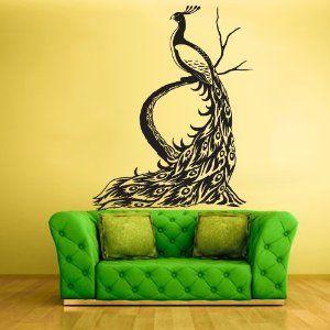 Wall Vinyl Sticker Decals Decor Art Bedroom Design Mural Peacock Bird Love That Couch Too