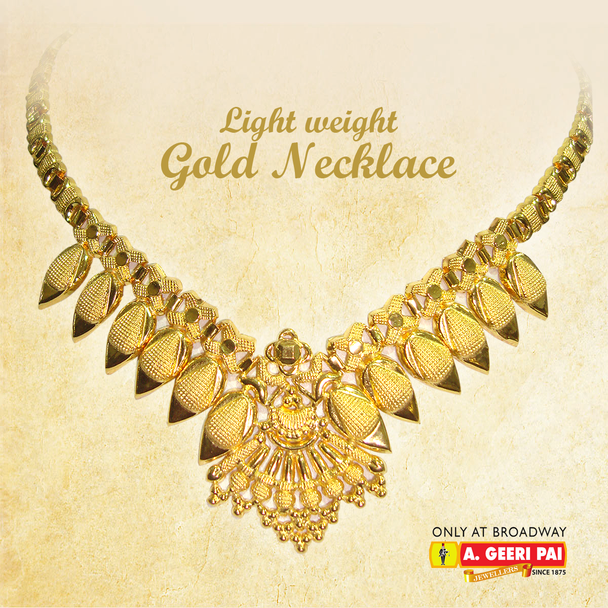 gold necklace gm design kerala light plated spring weight one chain chidambaram butterfly links traditional jewellery
