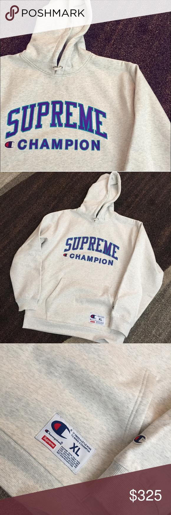 Supreme X Champion Hooded Sweatshirt Ss17 Champion Hooded Sweatshirt Sweatshirts Hooded Sweatshirts [ 1740 x 580 Pixel ]