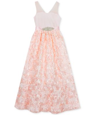be61c027c712 Rare Editions Little Girls Mesh Illusion Soutache Gown - Pink 6