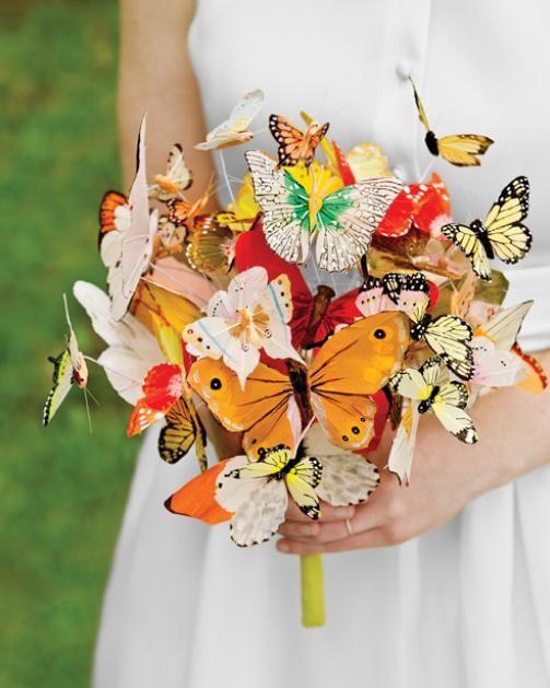 Ramo de novia con mariposas   Noticias de hoy