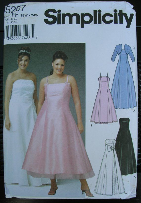 simplicity plus size patterns | Simplicity Plus Size Formal Dress ...