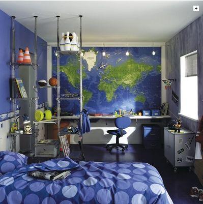 exemple deco chambre ado garcon bleu gris | Chambre garcon, Chambres ...