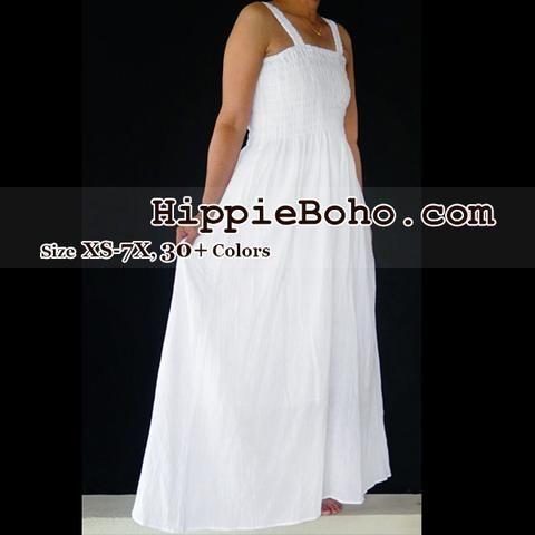 551fe58e31b No.012 - Size XS-7X Hippie Boho Clothing Gypsy White Plus Size Strap ...