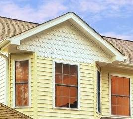 Yellow Siding With Ivory Scallops House Exterior Exterior Colors Outdoor Decor