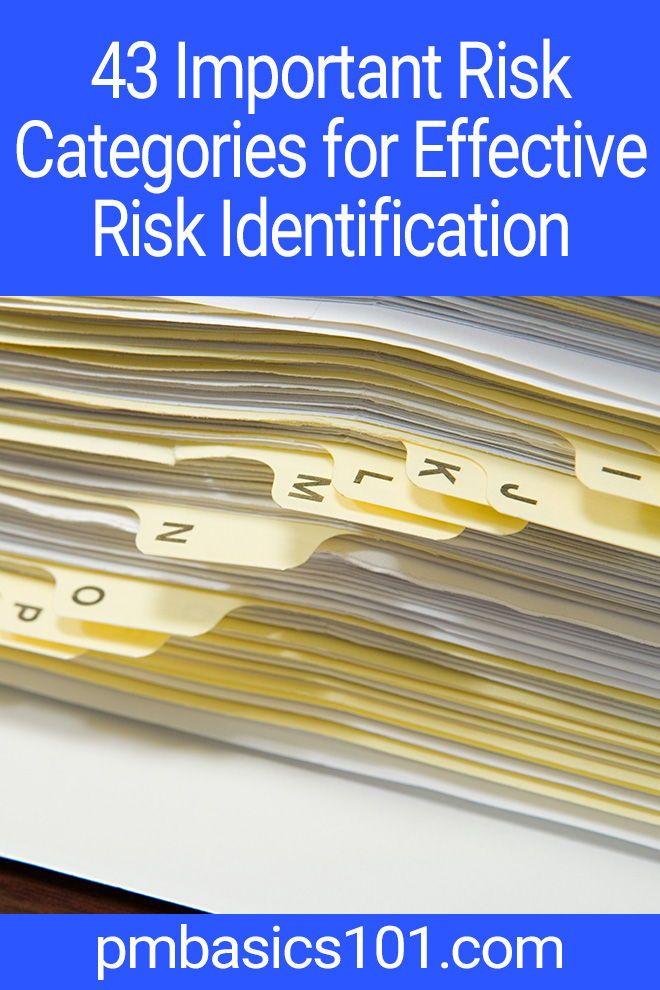 43 Important Risk Categories for Effective Risk