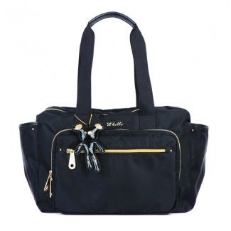 Il Tutto Evie Nappy Bag Black | Chic diaper bag, Changing