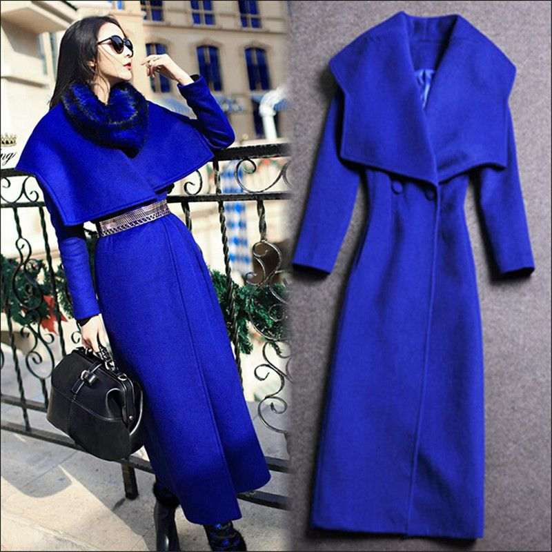 >> Click to Buy << X-Long Elegant Women Woolen Blends Coat Fashion Autumn Spring Thicken Outwear Jackets And Coats With Belt M1418  #Affiliate