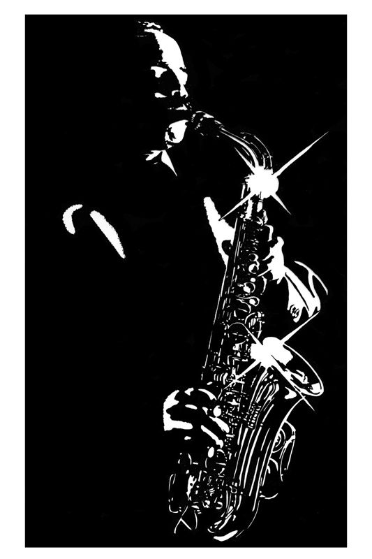 Jazz art black and white google search