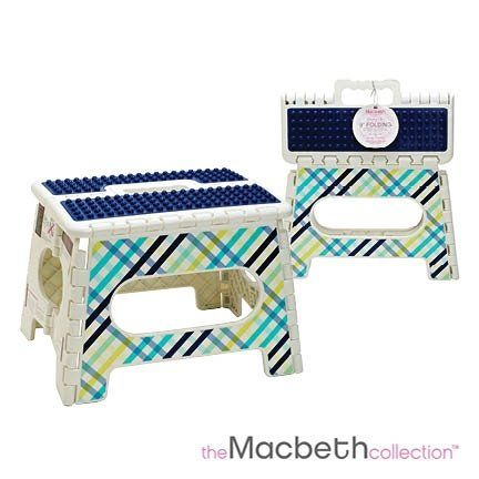 9 Inch Folding Step Stool With Massage Top Gingham List Price