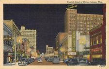 Jackson Mississippi Ms Capitol Street At Night Paramount Theatre