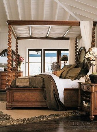 Ethan Allen Royal Charter Canopied Bed... | Walk on the wild side of ...