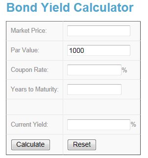 Bond Yield Calculator Online And Free Investing In Stocks Money Market Price