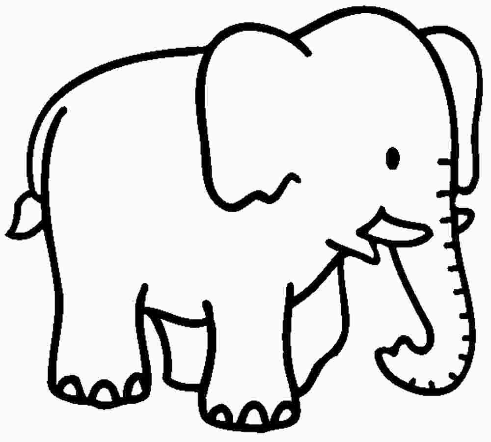 Simple Baby Elephant Coloring Pages Elephant Coloring Page Elephant Template Animal Coloring Pages