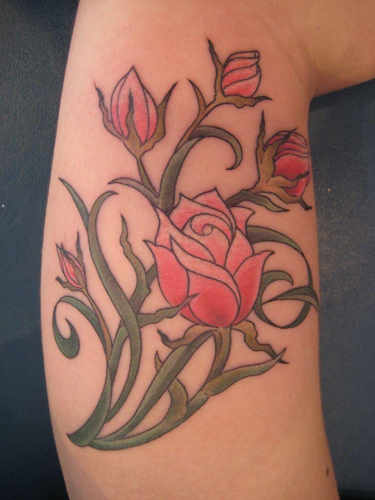 Rose Flower Tattoo Designs | Flower Tattoos – Ideas, Meaning, Flower ...