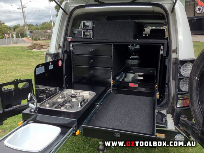4WD Storage Kitchen Fridge Slide System 4x4 Offroad C&er Canopy Drawers Bench | eBay : off road canopies - memphite.com