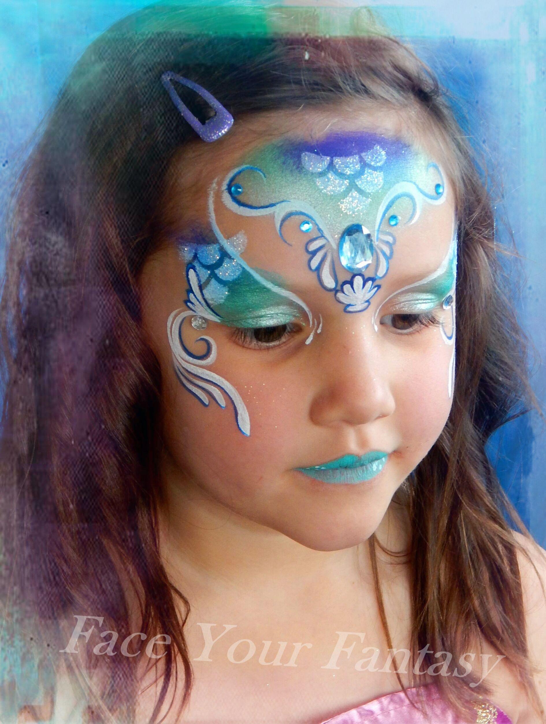 #mermaid #mermaidfacepaint #FaceYourFantasy # ...