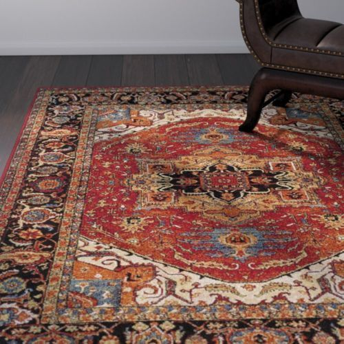 Traditional Oriental Tribal Lodge Red Area Rug Free Shipping