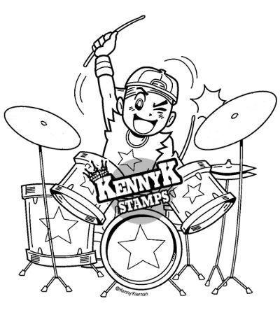 Drummer Anime Manga Style Digi Stamp By Kennyk Stamps Kennyk