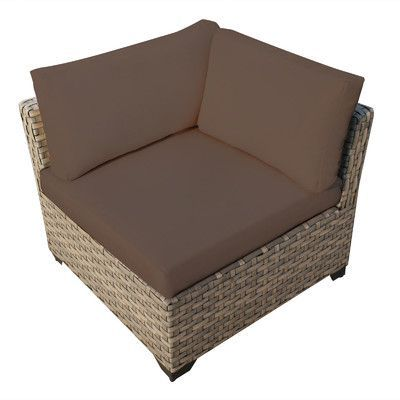 TK Classics Monterey Corner Sectional Chair with Cushions Fabric: Cocoa
