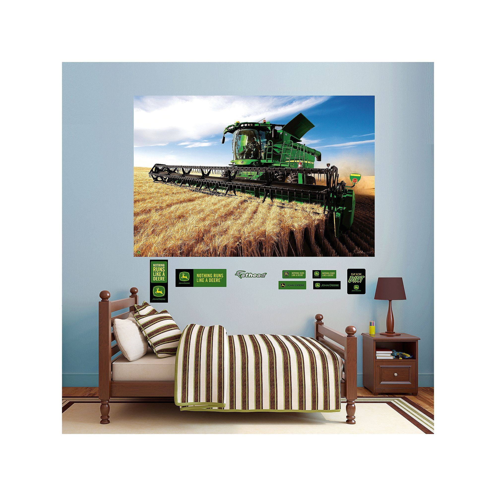 John Deere Combine Mural Wall Decals By Fathead, Multicolor Part 33
