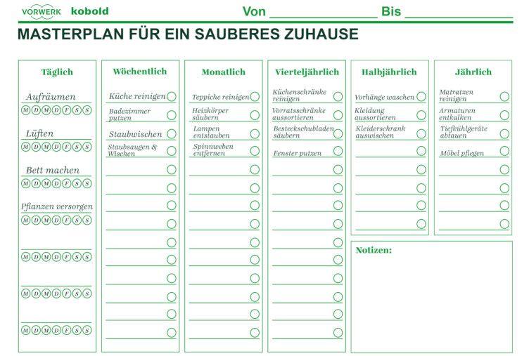 Putzplan Vorlage Zum Ausdrucken Wochenplan Jahresplan Vorwerk Kobold Reinigungsplan Vorlagen Wochenplan Zum Ausdrucken Jahresplaner