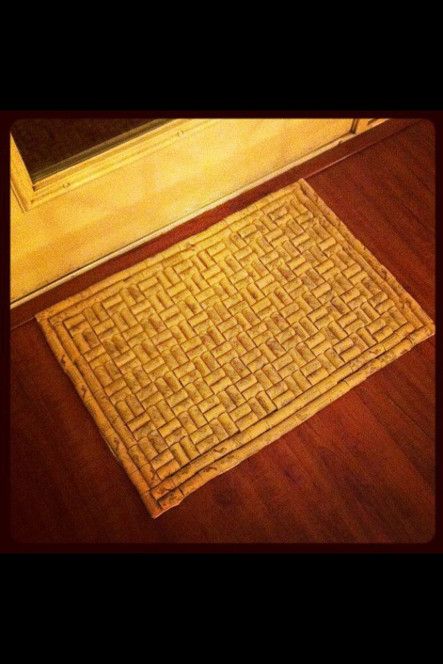 Time To Drink More Wine Cork Floor Mat Wine Cork