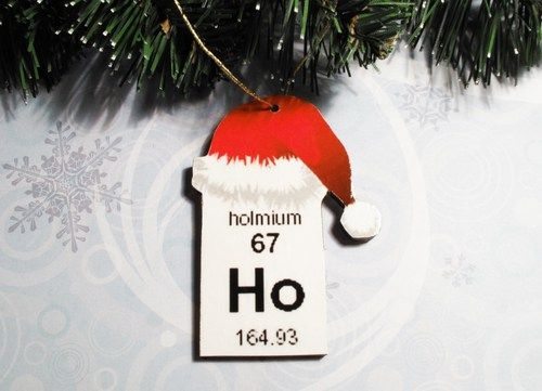 Periodic Table Christmas Tree Ornament Element Chemical Wooden Science Christmas Ornaments Homemade Christmas Ornament Sets Christmas Science