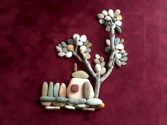 Creative diy ideas for pebble art crafts pebble art craft ideas creative diy ideas for pebble art crafts solutioingenieria Image collections