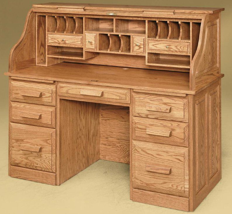 11949-Farmer's Roll-Top Desk