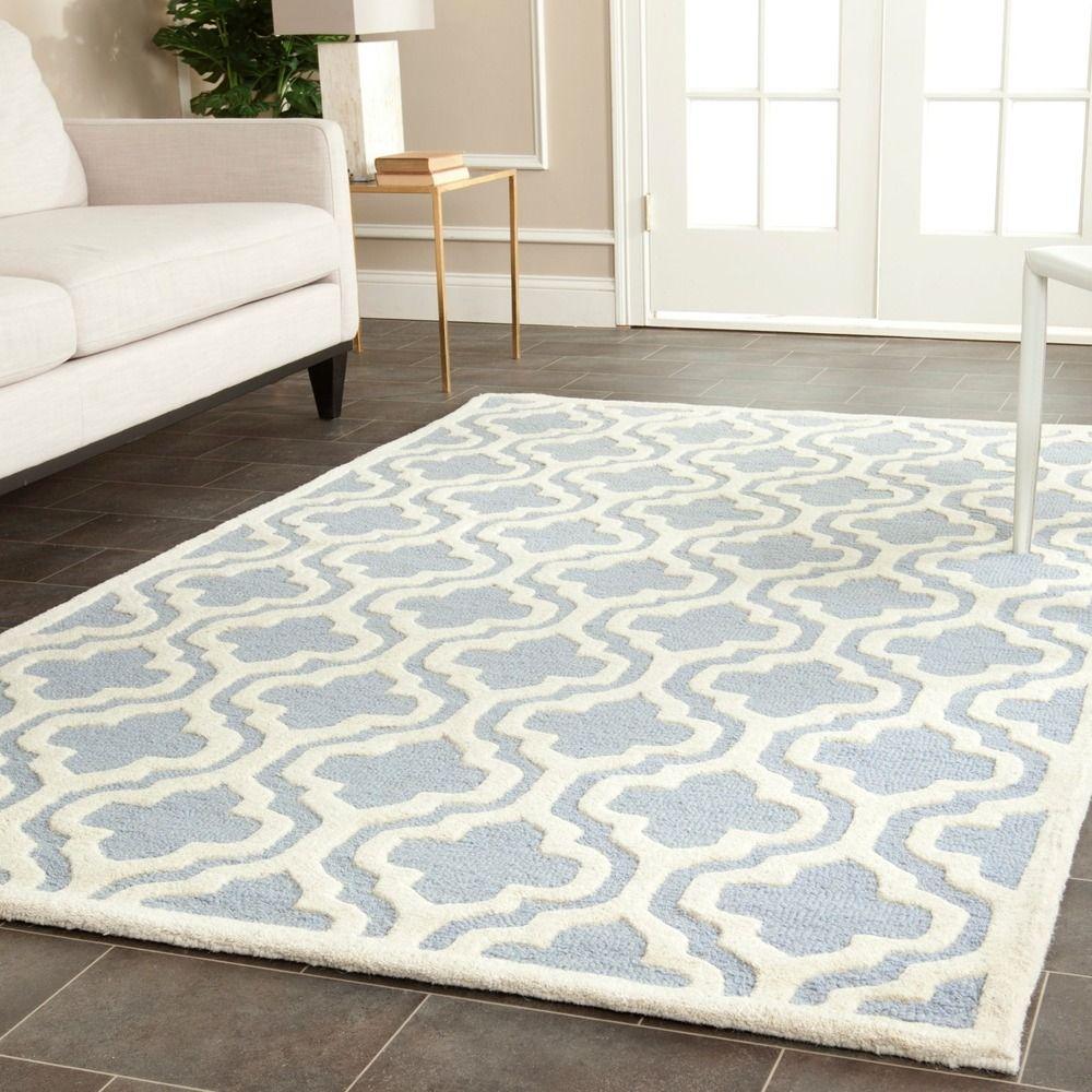 Safavieh Handmade Moroccan Cambridge Light Blue Wool Area Rug 5 X 8 Ping Great Deals On 5x8 6x9 Rugs