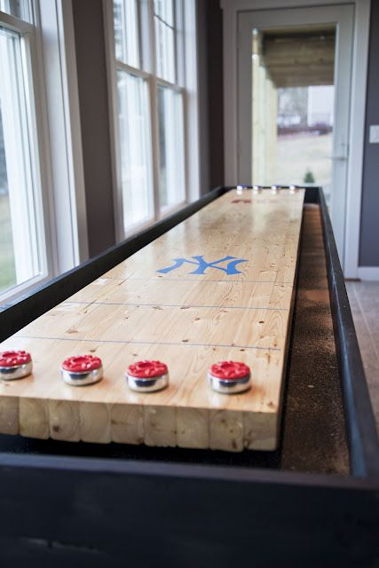 DIY Shuffle Puck Table   Kelly Build For Basement Game Room Someday!