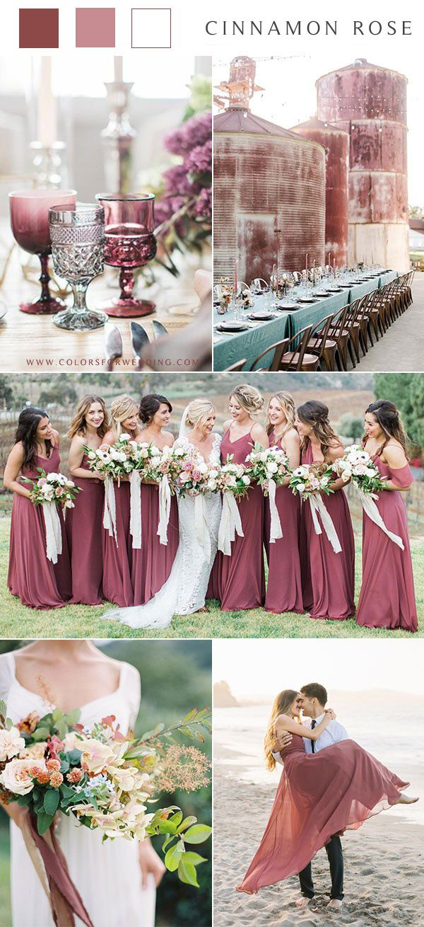 Top 15 Cinnamon Rose Bridesmaid Dresses and Wedding Color Ideas in 2020 (With images) | Rose ...