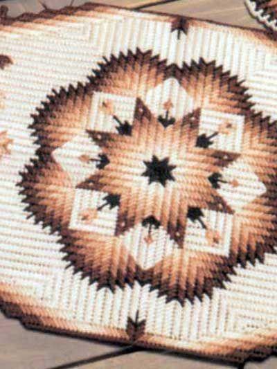 Broken Star Placemat Free Pattern Plastic Canvas