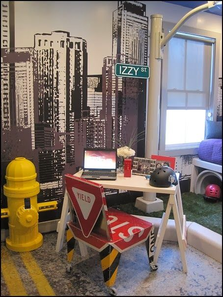 Urban themed bedroom decorating ideas kids rooms for City themed bedroom ideas