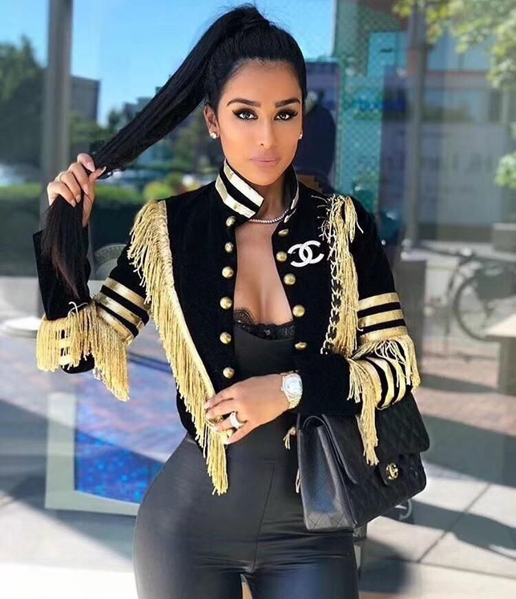 Ladies Sexy Long Sleeve Tassel Button Women Coat 2019 Celebrity Design – Miss.Be