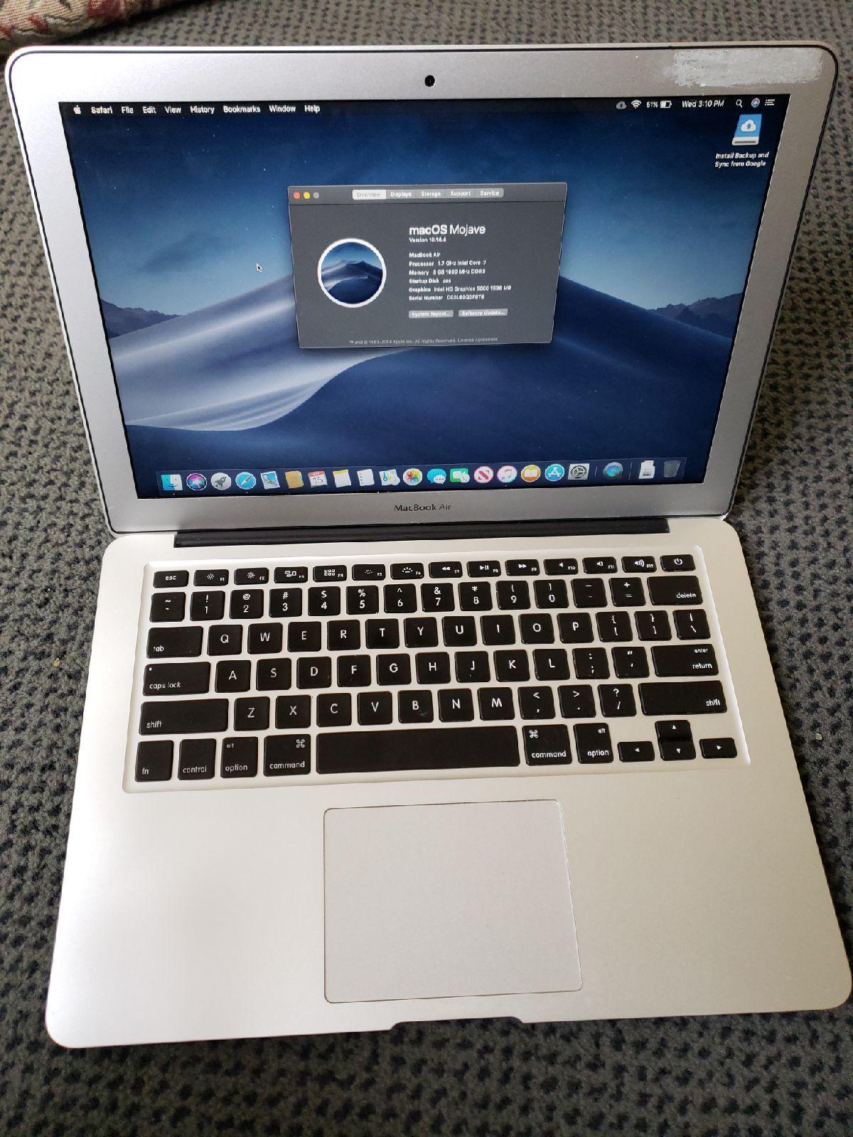 Macbook Air 2013 Core i7 8gb Ram 500gb Storage In very