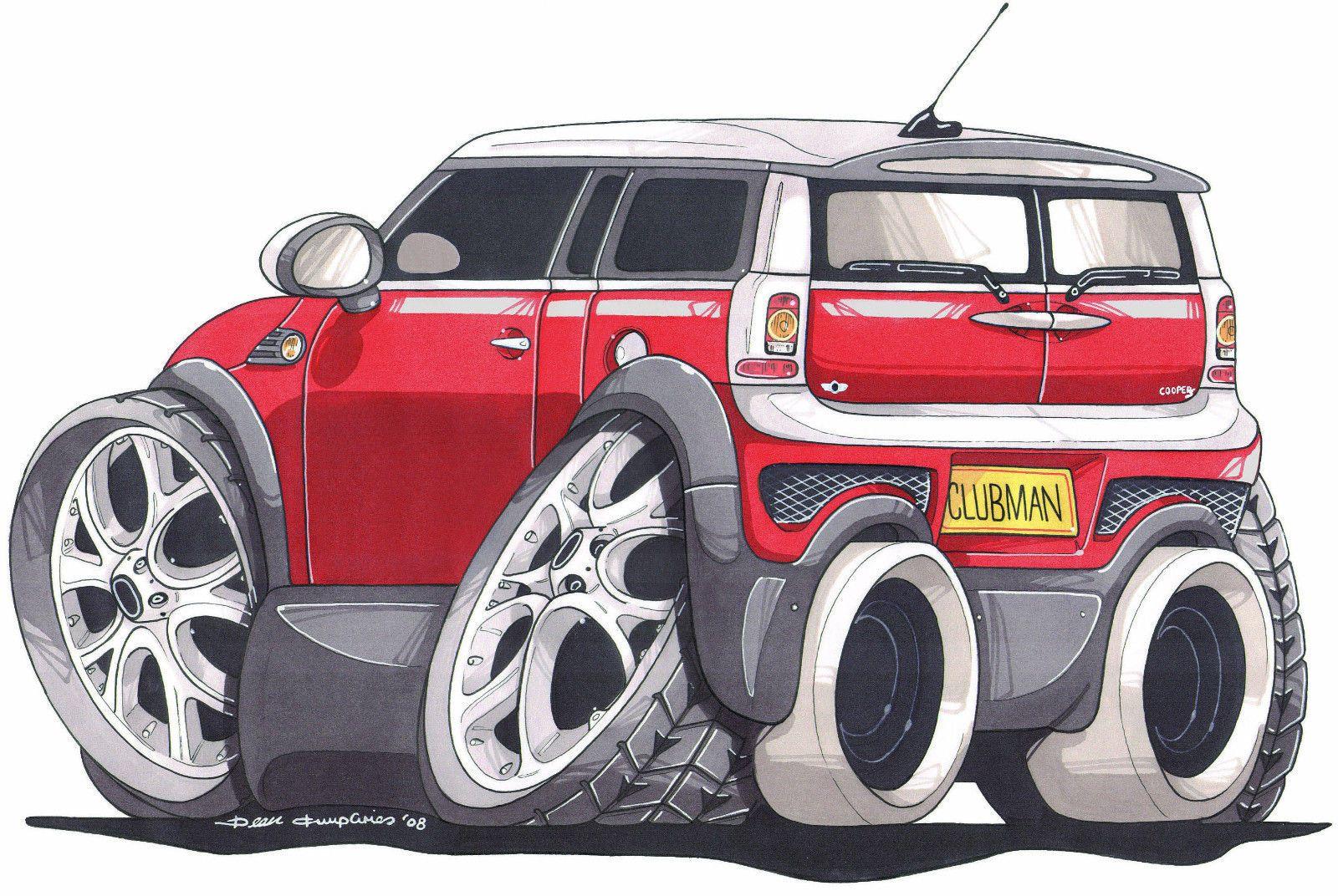 Mk2 Coupe Caricature Car Art Print BMW MINI