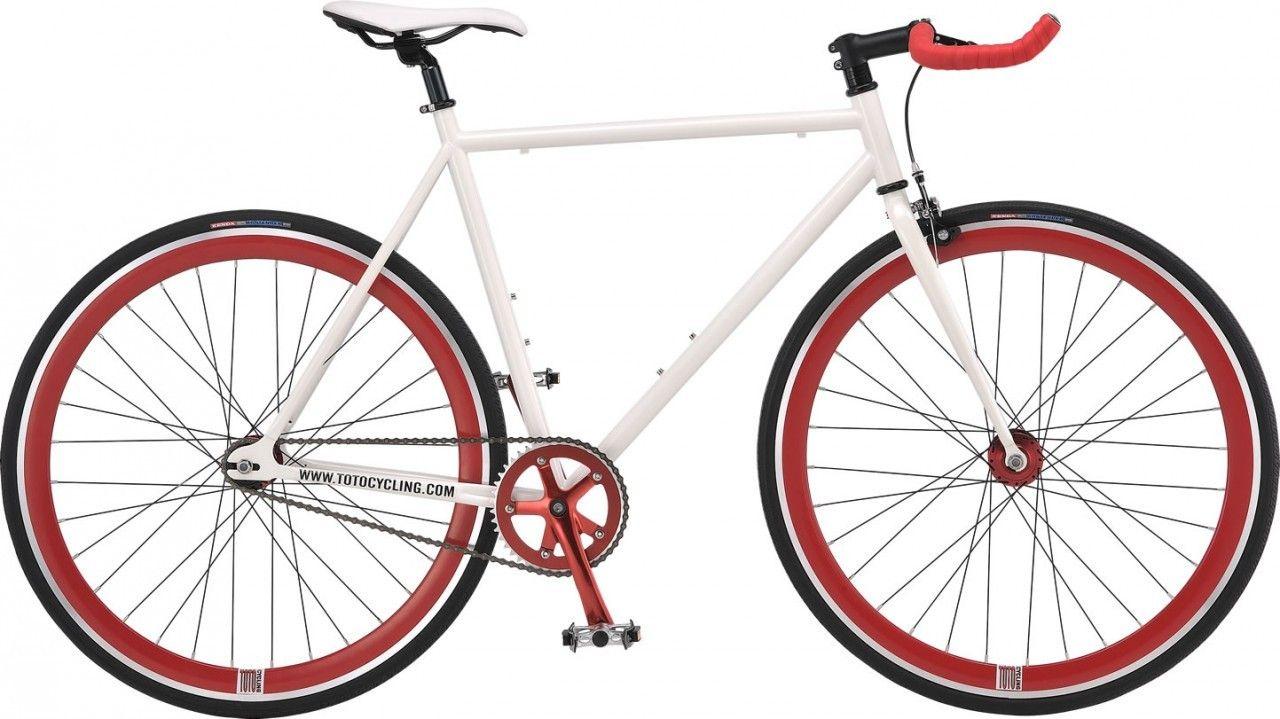 Tomcat UNO PRO Fixed Gear / Single Speed Road Bike - White Frame ...