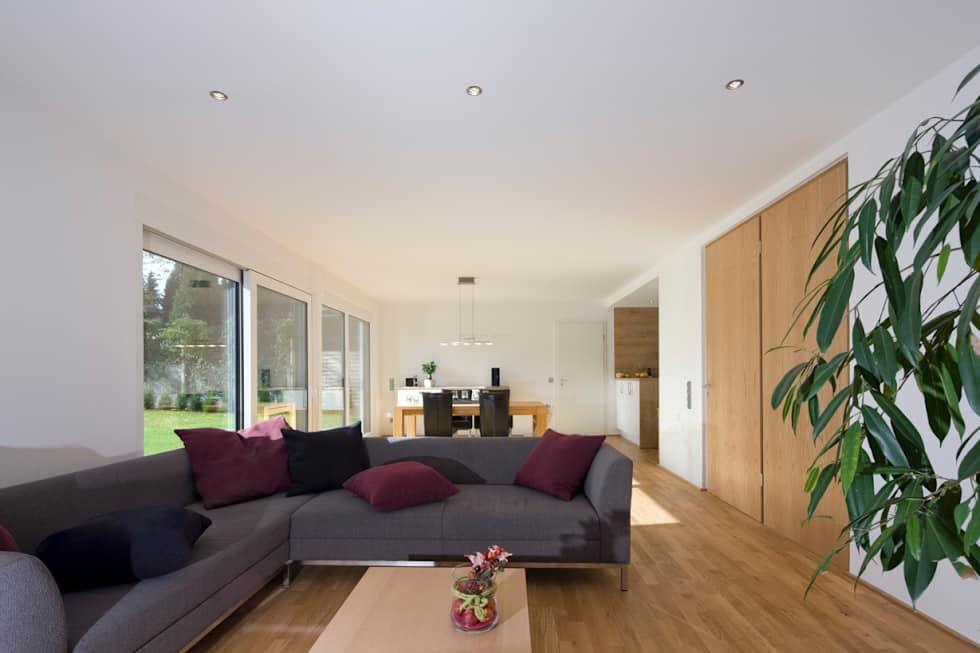 Gestaltung Wohnzimmer ~ Moderne wohnzimmer bilder: holzrahmenbau