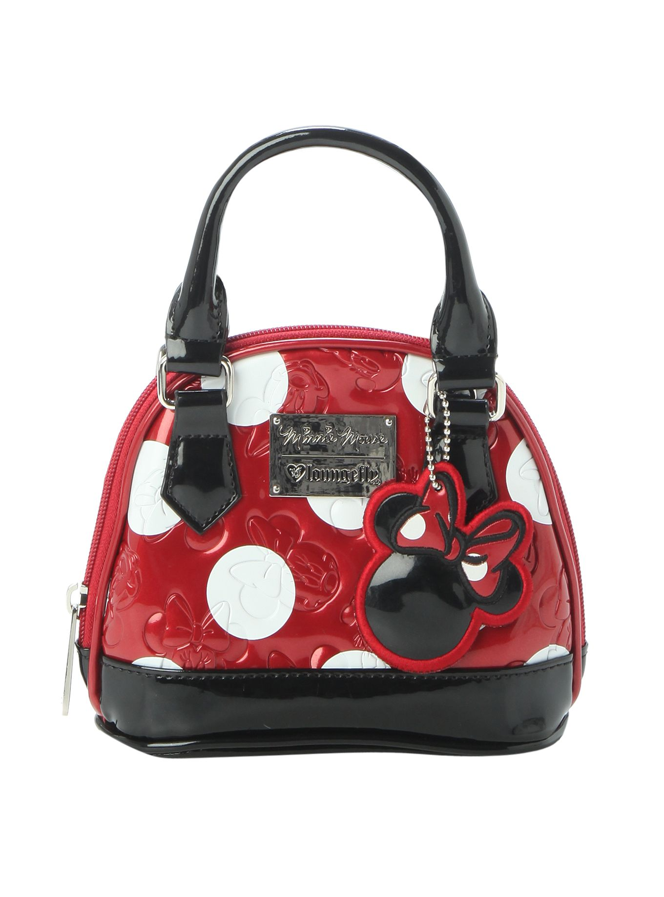c2338fe7a5a5 Loungefly Disney Minnie Mouse Polka Dot Mini Dome Bag | Hot Topic ...