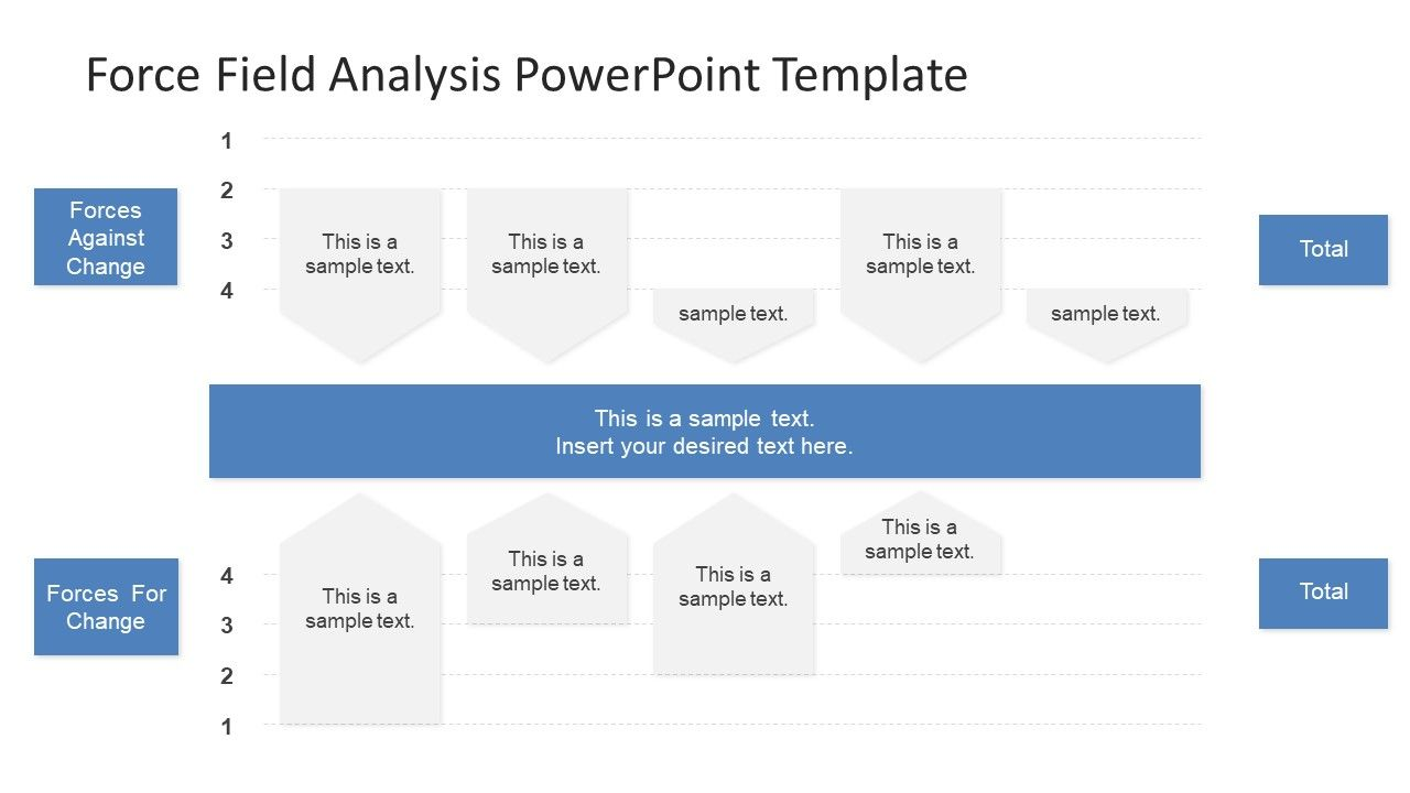 force field analysis powerpoint diagram business presentations