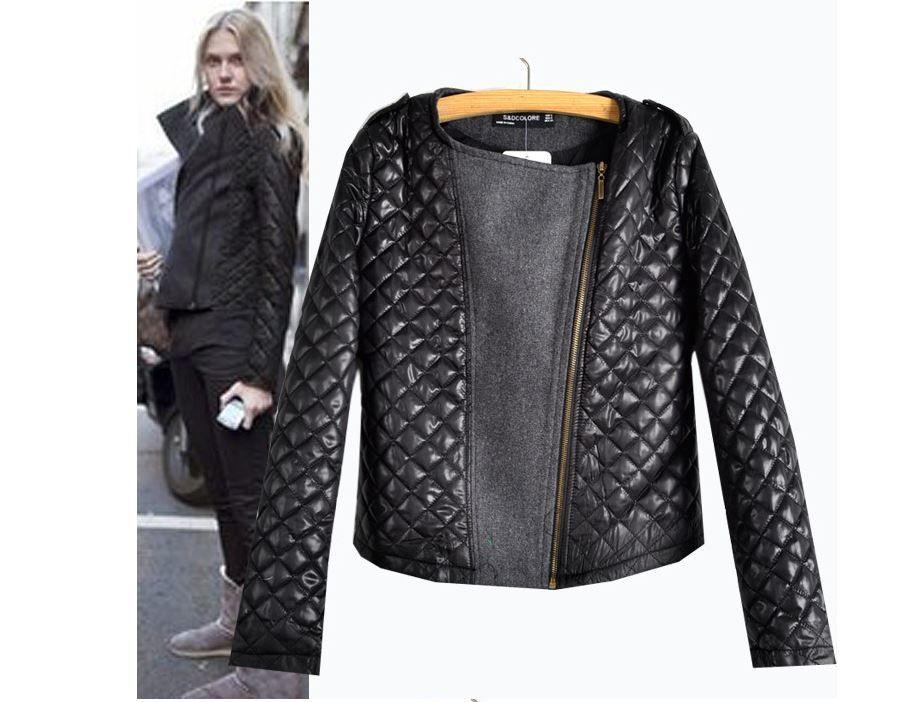 Czarna Krotka Kurtka Pikowana Asymetryczna L 40 4612776013 Oficjalne Archiwum Allegro Winter Fashion Jackets Womens Fashion Jackets Leather Sleeve Jacket