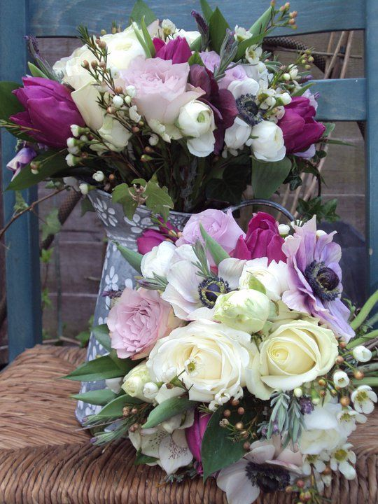 Country flowers | Purple themed wedding ideas | Pinterest | Flower ...