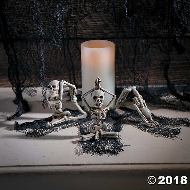 Yoga Skeletons Halloween Décor in 2018 Halloween Home Pinterest