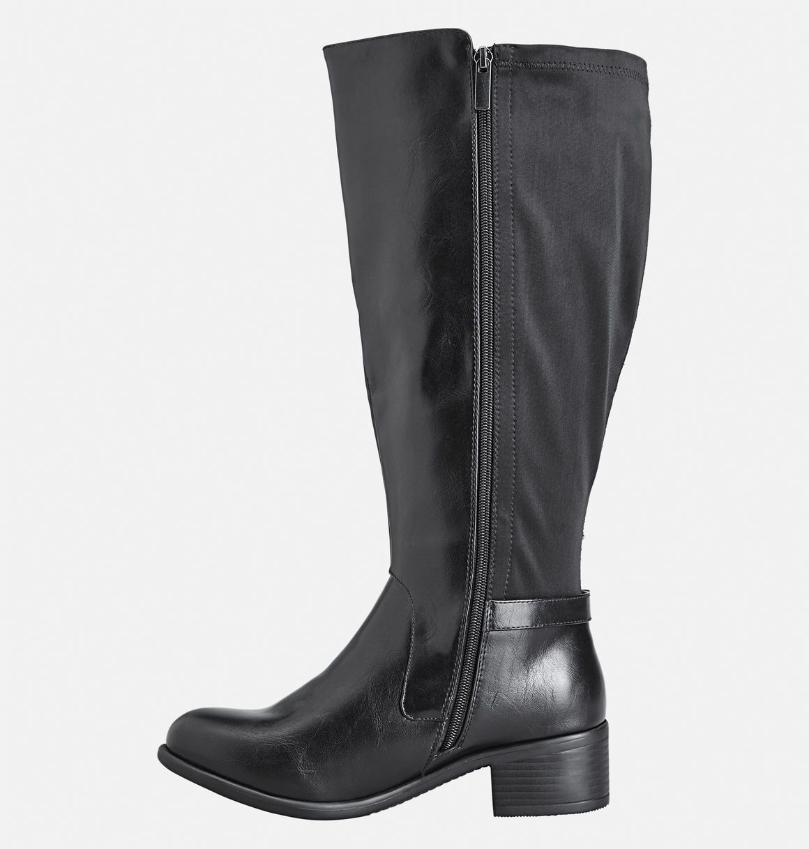 Have wider calves? Looking for boots that fit? Try our extra wide boots with a stretch calf for added fit like the Thea Nylon Back Tall Boot available online at avenue.com. Avenue Store