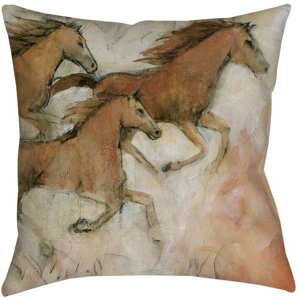 Thumbprintz Horse Fresco II Indoor/ Outdoor Throw Pillow ($24) ❤ liked on Polyvore featuring home, home decor, throw pillows, brown, indoor outdoor throw pillows, indoor outdoor pillows, horse throw pillows, patterned throw pillows and square throw pillows