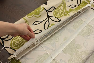 Great tutorial on making  Roman shades!