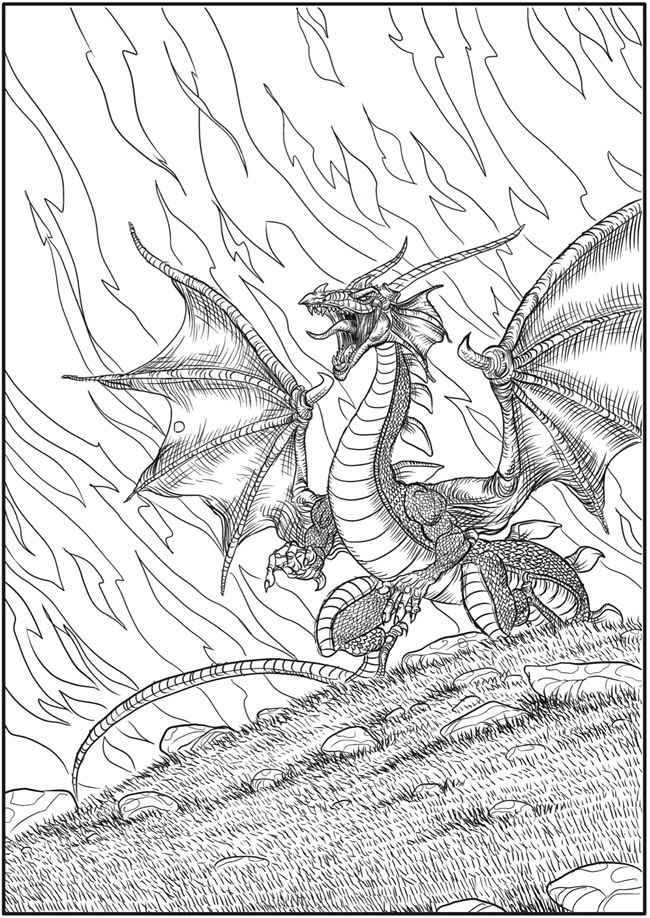 Welcome to Dover Publications From: Creative Haven Winged Fantasy ...